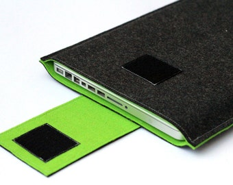 """MacBook Pro couverture, 15.6"""" Laptop Case, 15"""" rétine vitrine, 15 pouces macbook pro sleeve - couleur gris foncé vert pelouse"""
