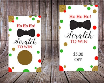 Scratch to Win Cards Christmas In July