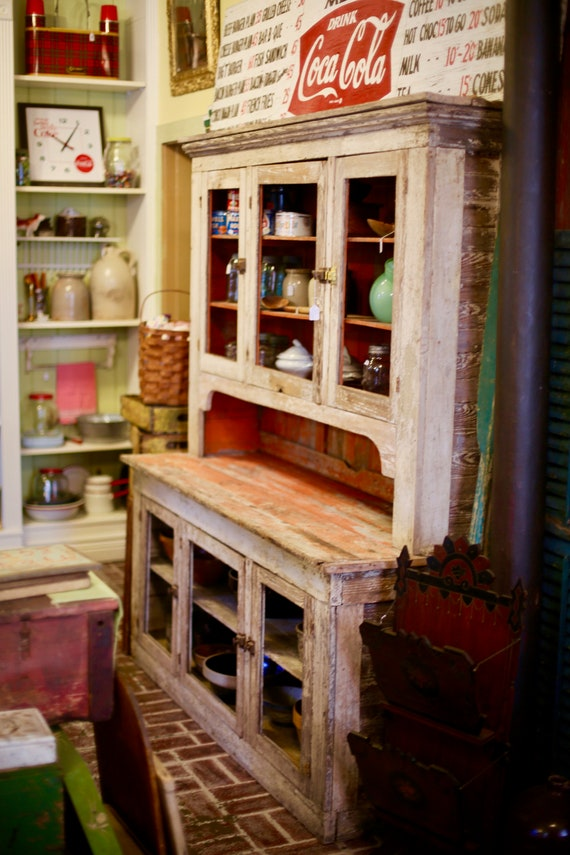 Farmhouse Chippy Paint Dry Cupboard