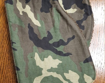 Set of 2 Camouflage Burp Cloths Baby Boy or Girl Hunting Brown Green Towel