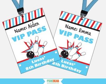 Bowling Birthday VIP Passes - Bowling Party VIP Pass - Bowling Birthday - Bowling Party - Bowling Party Favors (Instant Download)