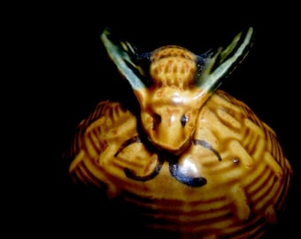 Vintage Honey Jar~Honey Bees~Honeybee Hive Jar