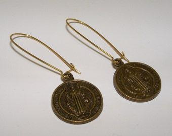 Brass medal high fashion Earrings