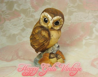 Owl Figurine, Vintage Owl Figurine, Porcelain Owl Figurine, Little Owl Figurine by Andrea, Limited Edition Owl Figurine, Gift for Owl Lover
