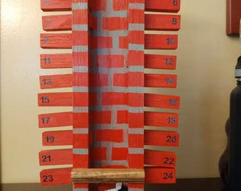 Santa Claus Chimney Advent Calendar