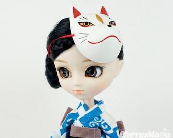 Kitsune mask Japanese Fox for dolls Pullip, Blythe, Dal, doll...