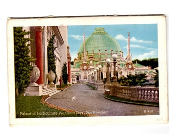 San Francisco California, Panama- Pacific International Exposition Vintage Postcard Souvenir Folder, Travel Journal, Scrapbook Supplies