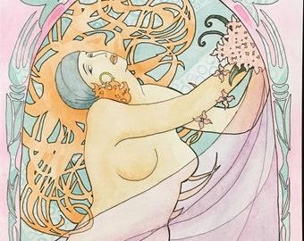Angelica - art nouveau style