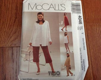 McCall's Maternity pattern  4046  new uncut size XSm- Sm -Med