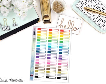 FUNCTIONAL SKINNY LABEL Paper Planner Stickers - Mini Binder Sized/3 Hole Punched