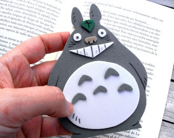 My neighbor Totoro magnetic bookmark Ghibli studio Miyazaki Totoro gifts Ghibli gift Cute Totoro Geek bookmark Anime bookmark Geeky bookmark