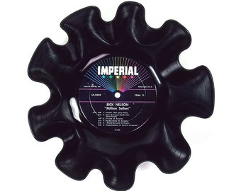 Rick (Ricky) Nelson Vinyl Record Bowl Vintage LP Album Rare 1963 (Million Sellers) Black Label with Rainbow Stars