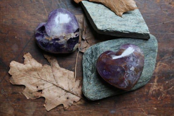 Medium Chevron Amethyst Heart, Amethyst Heart, Heart Shaped Amethyst, Polished Chevron Amethyst, Purple Crystal Heart, Gifts For Her