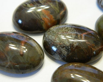 25x18MM Basic Oval Natural Scenery Agate Cabochon - Oval Shaped Gemstone Cabochons - Basic Oval Scenery Agate Stone Cabs