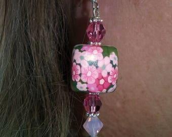 Millie~Grandma's Garden Earrings~Flower Earrings~Pink Earrings~Boho Earrings~Gift For Her~Ladies Gift~Teen Girls Gift~Hippy Earrings