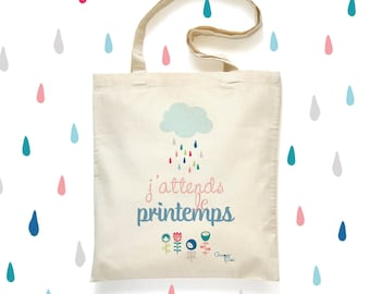 Tote Bag 'Spring' - cotton bag - 'Spring' Tote Bag cotton