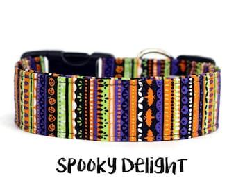 Halloween Dog Collar, Halloween Collar, Spooky Dog Collar, Holiday Dog Collar, Halloween, Scary (Add Upgrade for Metal Buckle/Martingale)