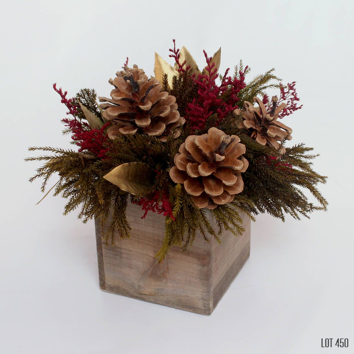 Christmas centerpiece holiday decor burgundy red and gold