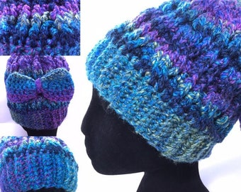 Simple and Beautiful Pattern for Messy Bun Hat