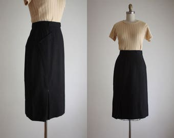 1950s arrowed wool skirt