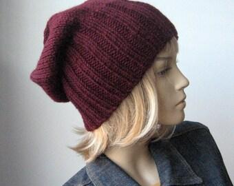 Hand Knit Hat, Knit Watchman Cap, Slouchy Hat, Vegan Knits, Mens Beanies, The Alex Hat, Winter Hat, Slouchy Beanie, Mens Hat, Womens Hat
