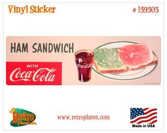 Coca-Cola Ham Sandwich Vinyl Sticker - 159503