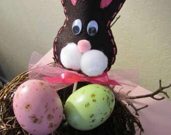 Set of  (12) EASTER BUNNY LOLLIPOP Covers