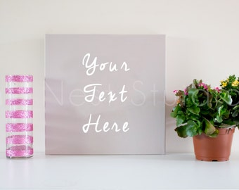 Styled Stock Photography, Desk with Canvas Stock Photography, Blog Stock Photography, Product Photography, Digital Image, Small Business