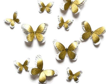 Party decorations, kids room decor, butterfly wall art, paper butterflies, 3d butterfly wall decals, bridal shower decorations, wall decor