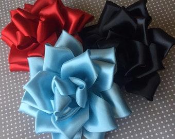 Ribbon Rose Hair Clip & Pin