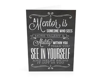 Mentor Gift, Mentor Teacher Gift, Teacher Appreciation, Appreciation Gift, Gift for Mentor, Thank You Gift, Instant Download Printable Card