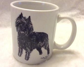 Vintage Cindy Farmer Highland Terrier collectible coffee cup mug. 1985 free ship