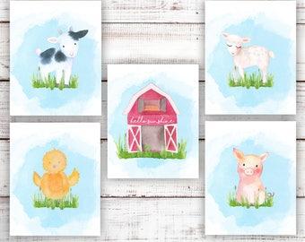 Farm Nursery. Country Nursery Decor. Country Nursery Art. Printable. Farm Animals Wall Art. Baby Farmhouse Nursery. Farmhouse Baby Decor.
