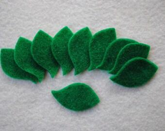 30 Piece Die Cut Felt Leaves, Style No. 6