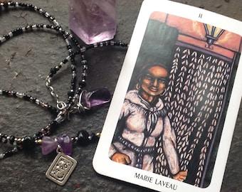 The High Priestess Tarot Crystal Waistbead