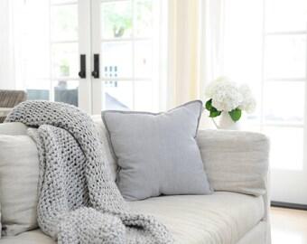 Chunky Knit Blanket, Throw Blanket, Chunky Knit Throw, Chunky Blanket, Knitted Blanket, Wool Blanket, Super Grosse Laine, Knit Throw Blanket