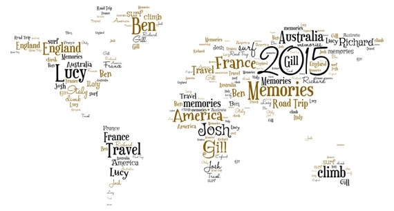 Personalised word art map of the world a4 print or digital gumiabroncs Choice Image