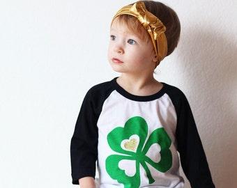CLEARANCE St Patricks Day Shirt - Shamrock Shirt -Saint Patricks Day Shirt - Clover Shirt - Lucky Clover Tee - Kid Shirt - Toddler Shirt - B