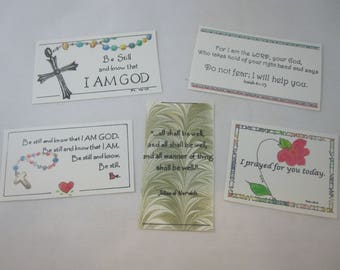 Five Mini Prayer Cards - Variety Pack