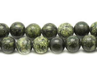 10pc - beads of stone - Serpentine 8mm 4558550007377 balls