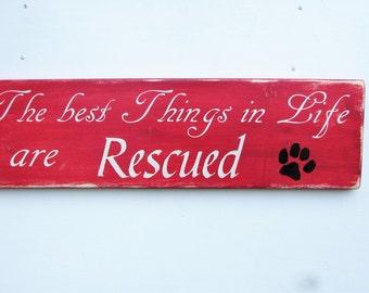 hand painted wood sign. dog sign, dog rescue sign, primitive rustic home decor, primitive sign, wood sign, pet sign
