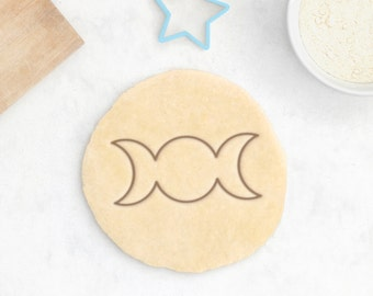 Triple Moon Cookie Cutter – Pagan Cookie Cutter Pagan Gift Goddess Cookie Cutter Neopagan Symbol Feminist Gift Ritual Witch Gift Witchcraft