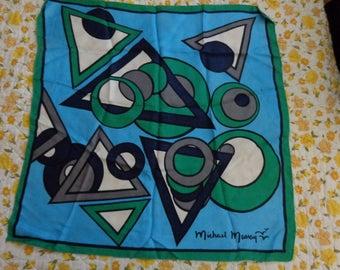 Scarves - Vintage Michael Murray Silk Op Art Scarf.  Genuine Beauty!!