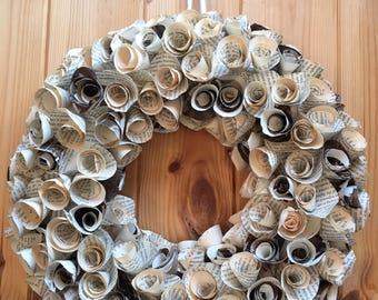 Large Vintage Paper Wreath