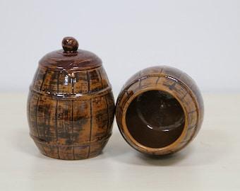 Ceramic honey pot, capacity 500 ml pot