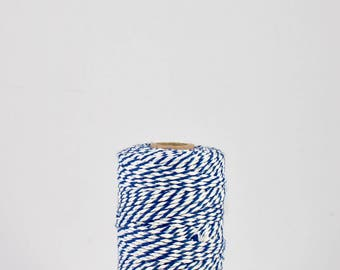 FULL SPOOL Blue and White Baker's Twine - 100m