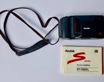 Kodak S Series S1100XL 35mm Camera With Manual, Vintage Kodak 35 mm Camera, 1980s Camera