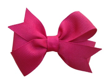 Dark red hair bow - hair bows, bows, hair bows for girls, baby bows, girls hair bows, toddler hair bows, red hair bows, pigtail bows, bow