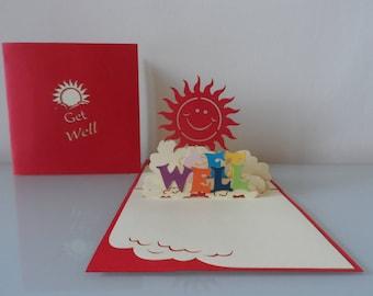 Get Well Pop up Card (sku031)