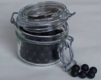 the set of 5 round beads black silicone with 12mm for making ties pacifiers, teething necklaces